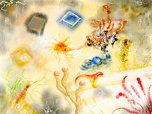 произведение искысства цветастое Стоковая Фотография RF