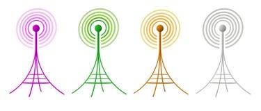 произведенная антеннами изолированная белизна радио 3d иллюстрация штока