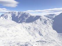 произведенная компьютером гора ландшафта Стоковая Фотография RF