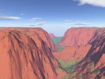 произведенная компьютером гора ландшафта Стоковая Фотография