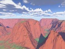 произведенная компьютером гора ландшафта Стоковое фото RF