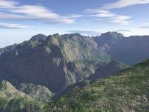 произведенная компьютером гора ландшафта Стоковые Фото