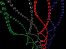 произведенная компьютером структура helix Стоковые Изображения