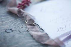 произведенное 3d венчание кольца изображения Wedding символы, атрибуты Праздник, торжество Стоковое фото RF