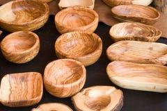 произведенные утвари деревянные Стоковое Изображение