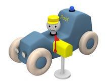 произведенный компьютером автомобиль игрушки столба 3D Стоковые Изображения RF