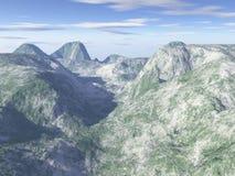 произведенный компьютером пейзаж горы Стоковое Изображение RF