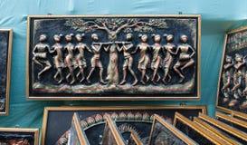 Произведение искусства на природе, индийских ремесленничествах справедливых на Kolkata Стоковые Изображения RF