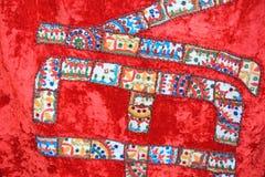 Произведенная ткань от Nepal-1 Стоковое Изображение RF