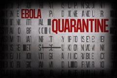Произведенная цифров группа слова ebola Стоковое фото RF