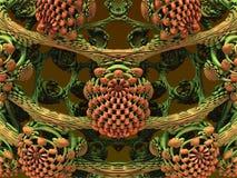 Произведенное компьютером художественное произведение фрактали Стоковое Фото