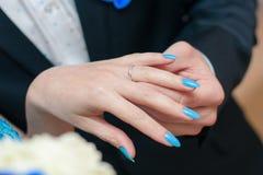 произведенное 3d венчание кольца изображения Стоковая Фотография RF