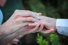 произведенное 3d венчание кольца изображения Стоковые Изображения