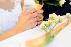 произведенное 3d венчание кольца изображения Стоковые Изображения RF