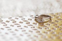 произведенное 3d венчание кольца изображения Стоковое Изображение RF