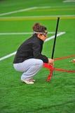 производить съемку lacrosse поля Стоковая Фотография