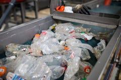 Производственная линия для обрабатывать отхода пластмассы в facto стоковые изображения rf