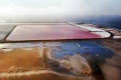 Производство соли, Намибия вышесказанного Стоковая Фотография