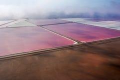 Производство соли, Намибия Стоковая Фотография