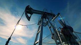 производящий Топлив механизм двигает вверх и вниз Энергия, масло, газ, снаряжение топлива нагнетая сток-видео