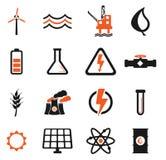 Производства электроэнергии значки просто Стоковые Фотографии RF