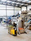 Производственная линия в складе стоковые фотографии rf