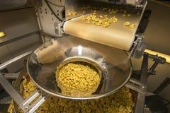 Производственная линия макаронных изделий Tortellini стоковая фотография