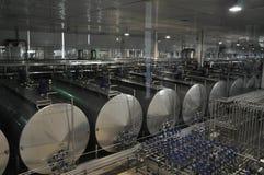Производственная линия молокозавода Китая Mengniu Стоковое Изображение