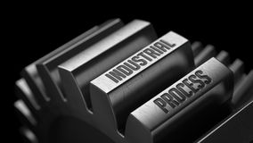 Производственный процесс на шестернях металла Стоковое Изображение