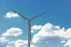 Производство энергии способное к возрождению генератора энергии ветротурбины Стоковое Изображение