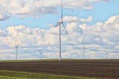 Производство энергии способное к возрождению генератора энергии ветротурбины Стоковые Фото