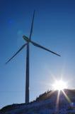 Производство электроэнергии турбины ветровой электростанции Стоковые Изображения RF