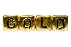 произношения по буквам золота Стоковая Фотография RF