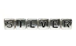 произношения по буквам серебра Стоковая Фотография RF