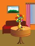 проиллюстрированная живущая комната Стоковая Фотография RF