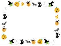Проиллюстрированная закрепляя петлей рамка хеллоуина сток-видео