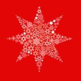 Проиллюстрированная звезда рождества Стоковое Фото