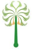 проиллюстрированная пальма Стоковая Фотография