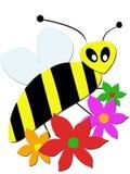 проиллюстрированная пчела стоковые изображения rf