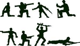 проиллюстрированные воины Стоковая Фотография