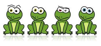 проиллюстрированные лягушки Стоковое Фото