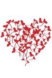 проиллюстрированные сердца Стоковые Изображения RF