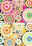 Проиллюстрированные цветастые cogs Стоковые Фотографии RF