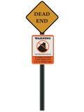 проиллюстрированный дорожный знак Стоковые Изображения RF