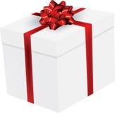 проиллюстрированный подарок смычка изолированным Стоковые Фото