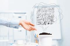 Проинвестируйте и вырастите ваш доход стоковые изображения rf