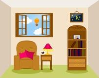 проиллюстрированная живущая комната Стоковое Изображение