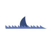 Проиллюстрированное ребро акулы значка бесплатная иллюстрация