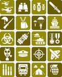 Комплект воинских знаков Стоковое фото RF