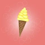 Проиллюстрированный конус мороженого Стоковое Фото